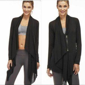 Fabletics Black Andrea Shrug Zip Cardigan Size Extra Small